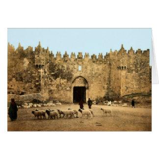 Jerusalem- - Damaskus-Tor Karte