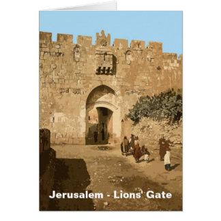 Jerusalem - das Tor der Löwen Karte