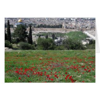 Jerusalem des Goldes und der roten Blumen Karte