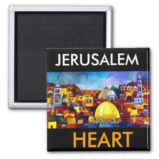 JERUSALEM-HERZ QUADRATISCHER MAGNET