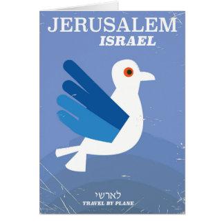 Jerusalem israelisches ישראל Vintages Reiseplakat Karte