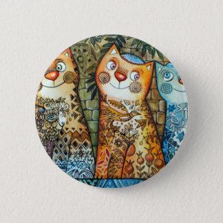Jerusalem-Katzen Runder Button 5,1 Cm