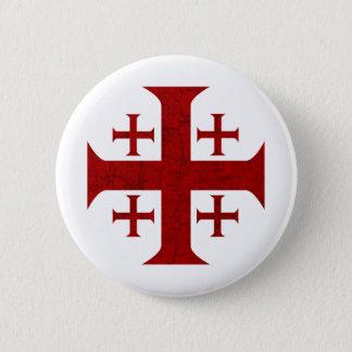Jerusalem-Kreuz, beunruhigt Runder Button 5,1 Cm