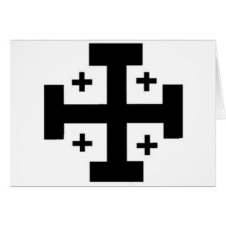 Jerusalem-Kreuz Karte