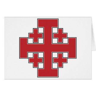 Jerusalem-Kreuz-Rot Karte