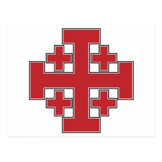 Jerusalem-Kreuz-Rot Postkarte