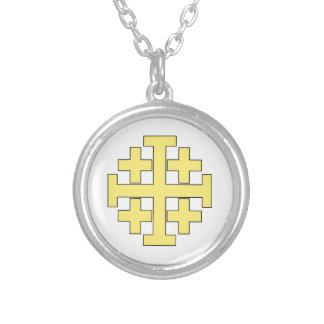 Jerusalem-Kreuz Versilberte Kette
