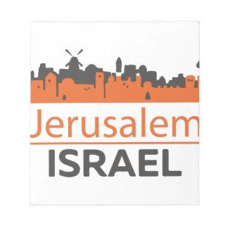 Jerusalem Notizblock