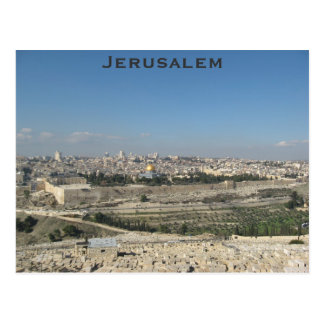 Jerusalem-Postkarte Postkarte