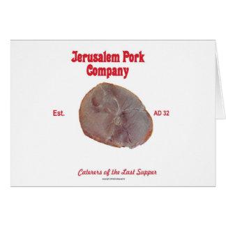 Jerusalem-Schweinefleisch Karte
