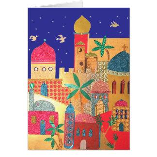Jerusalem-Stadt-bunte Kunst Karte
