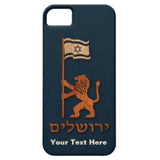 Jerusalem-Tageslöwe mit Flagge iPhone 5 Etui