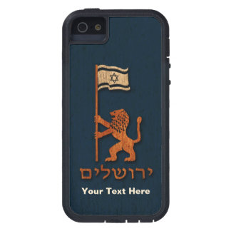 Jerusalem-Tageslöwe mit Flagge Tough Xtreme iPhone 5 Hülle
