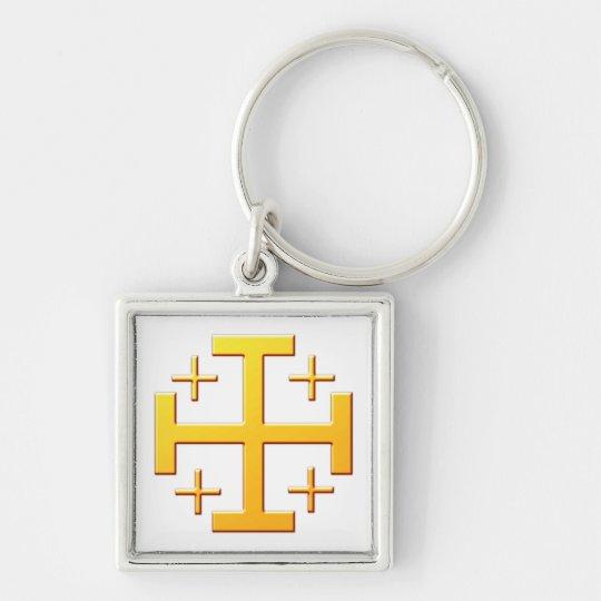 Jerusalemkreuz cross Jerusalem Schlüsselanhänger