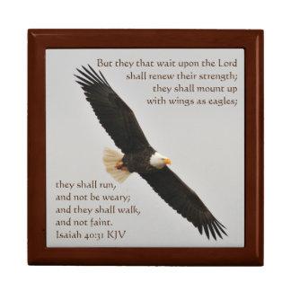 Jesaja-40:31 aber -sie diese Wartezeit nach dem Geschenkbox