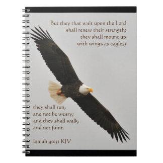 Jesaja-40:31 aber -sie diese Wartezeit nach dem Spiral Notizblock