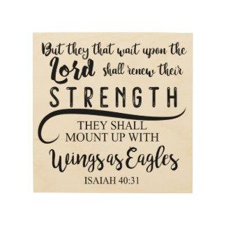 Jesaja-40:31 KJV Holzwanddeko