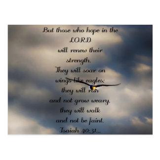 Jesaja-40:31 kundenspezifisches christliches postkarte