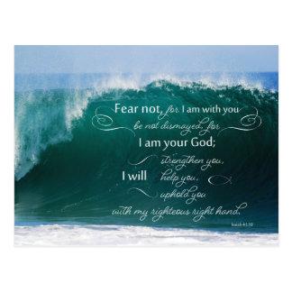 Jesaja 41 10 Bibel-Vers-Postkarten Postkarte