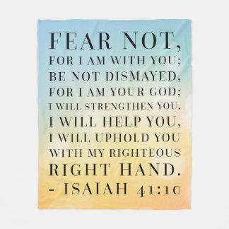 Jesaja-41:10 Bibel-Zitat Fleecedecke