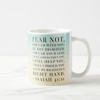 Jesaja-41:10 Bibel-Zitat Kaffeetasse