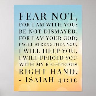 Jesaja-41:10 Bibel-Zitat Poster
