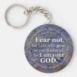 Jesaja-41:10 Furcht nicht für bin mich mit Ihnen Standard Runder Schlüsselanhänger