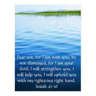 Jesaja-41:10 inspirierend Bibel-Vers Postkarte