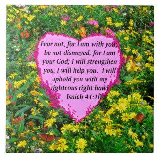 JESAJA-41:10 WILDBLUME-FOTO-ENTWURF KERAMIKFLIESE