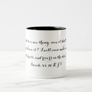 Jesaja-43:19-Tasse Zweifarbige Tasse