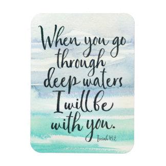 Jesaja-43:2 tiefes Wasser-Bibel-Vers-Magnet Magnet