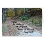 Jesaja-53:4 sicher hat er unser Leid… getragen Grußkarten