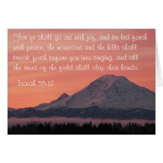 Jesaja-55:12 der Mount Rainier an der Dämmerung, Karte