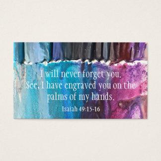 "Jesaja ""ich vergesse Sie nie"" WarmNFuzzie Karte"