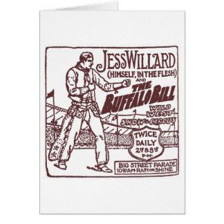 Jess Willard 1917 Schwergewichts- Champion (Braun) Karte