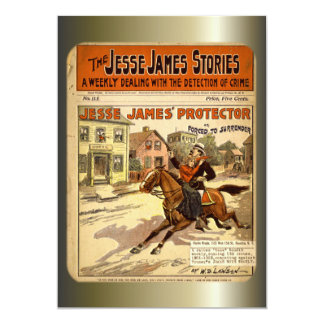 Jesse James geächtetes Bank-Räuber-Comic-Buch 12,7 X 17,8 Cm Einladungskarte