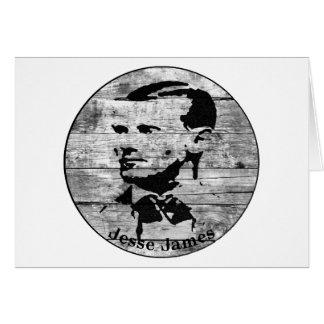 Jesse James Vintages Foto Karte