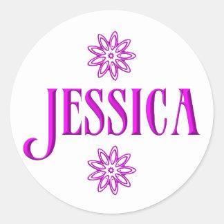 Jessica Runder Aufkleber