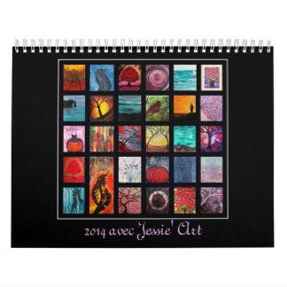 Jessie Kunst-Kalender 2017 - Grafiken ab 2013 Abreißkalender