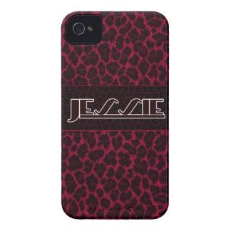 Jessie Pink-Leopard-Druck Iphone 4s Fall iPhone 4 Case-Mate Hüllen