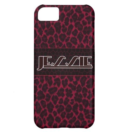 Jessie Pink-Leopard-Druck Iphone 5s Fall Hüllen Für iPhone 5C