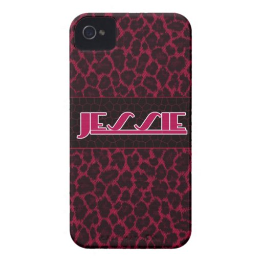 Jessie Pink-Leopard-Druck IPhone Fall iPhone 4 Hülle