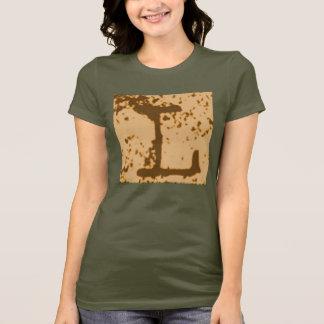 """Jessies Buchstabe """"L"""" Monogramm-T - Shirt"""
