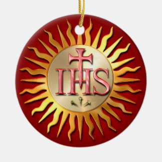Jesuit-Siegel Keramik Ornament