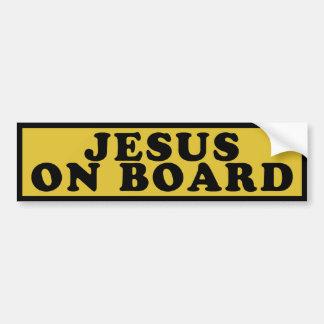 Jesus an Bord Autoaufkleber