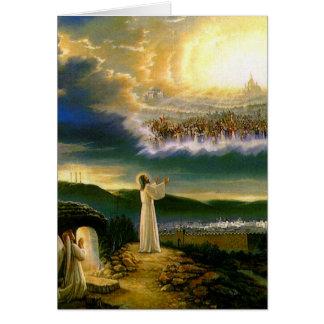 Jesus an das Tor-Grußder karte des Himmels