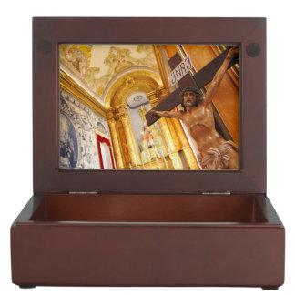 Jesus auf dem Kreuz Erinnerungsdose