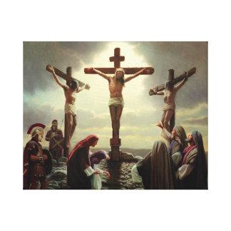 Jesus auf dem Kreuz Leinwanddruck