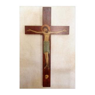 Jesus auf der Querkunst Acryl Wandkunst