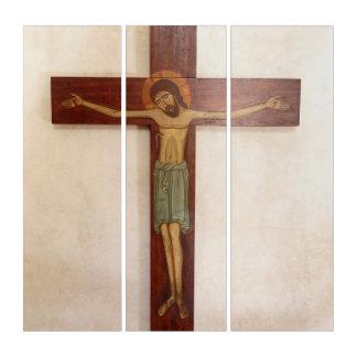 Jesus auf der Querkunst Triptychon